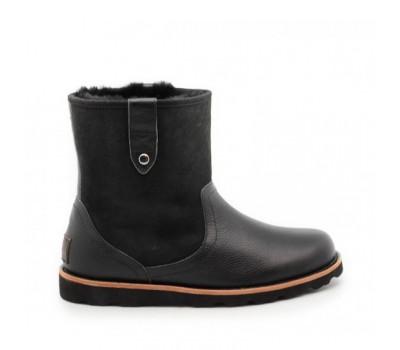 Мужские ботинки UGG Men's Stoneman TL - Black Комбинированные