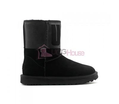 UGG Classic Short Sparkle Boot - Black