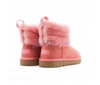 UGG Mini Fluff Quilted Boot - Lantana Розовые