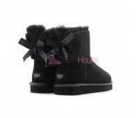 UGG Bailey Bow Mini II Metallic Black