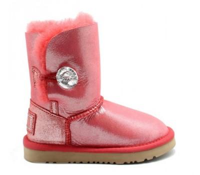 UGG Kids Bailey Bling Glitter Red
