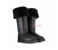 UGG Boots Over The Knee Bailey Button 2 Bomber Black