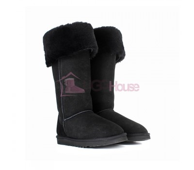 Угги Ботфорты UGG Boots Over The Knee Bailey Button 2 Black