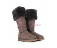 UGG Boots Over The Knee Bailey Button 2 Chocolate