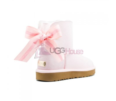 UGG Bailey Bow Customizable - Seashell Pink
