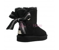 Угги Мини UGG Bailey Bow Customizable - Seashell Black