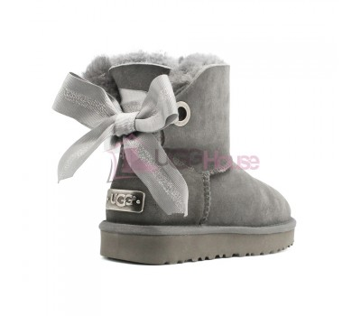 UGG Bailey Bow Customizable - Seashell Charcoal