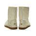 UGG Australia Classic Short Metallic White Угги короткие обливные белые