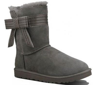 UGG Australia Josette - Grey угги с бантиком серые