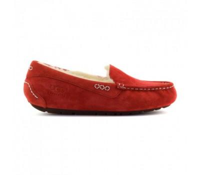 Мокасины женские красные с мехом UGG Moccasins Women Ansley Red
