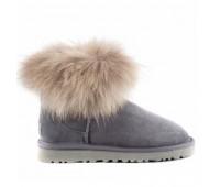 Угги с мехом лисы Серые UGG Australia Fur Fox Grey