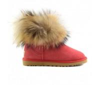 Угги с мехом лисы красные UGG Fur Fox Red