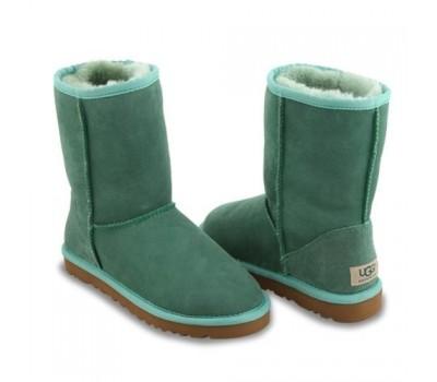 Угги классические зеленые замшевые UGG Australia Classic Short Green