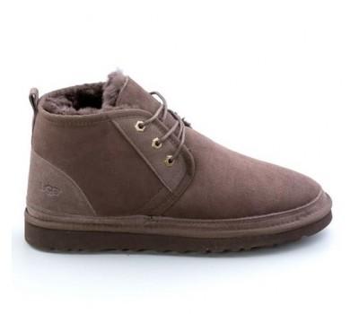 Угги мужские на шнурках Шоколадные UGG Men's Neumel Boots Chocolate