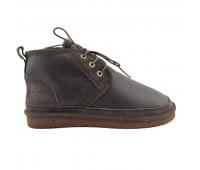 Угги мужские на шнурках Шоколадные 10416