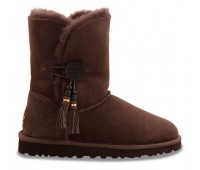 UGG Bailey Button Charms Chocolate