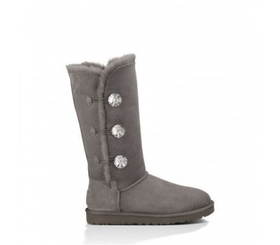 UGG Bailey Button Triplet Bling Grey