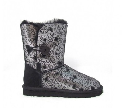 UGG Bailey Button Fancy Black