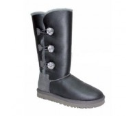 UGG Bailey Button Triplet Grey Metallic
