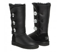 UGG Bailey Button Triplet Black Metallic