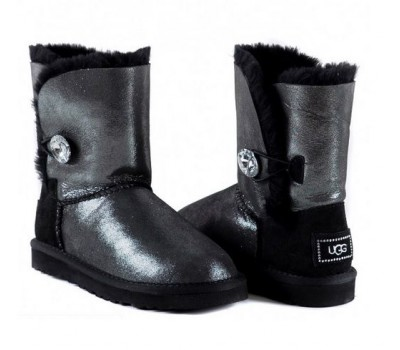 UGG Kids Bailey Bling Black Glitter