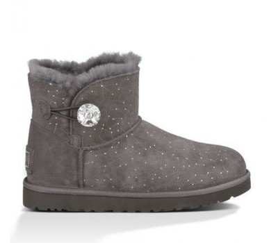 UGG Mini Bailey Button Bling Constellation Grey