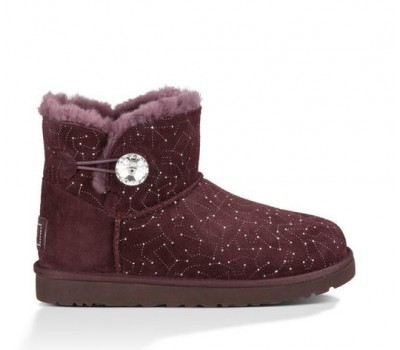 UGG Mini Bailey Button Bling Constellation Lodge Угги со Сваровски созвездие