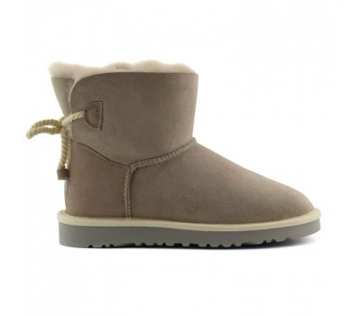 UGG Mini Bailey Bow Selene Light Grey