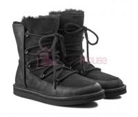 UGG Australia Lodge Black Угги со шнурками черные