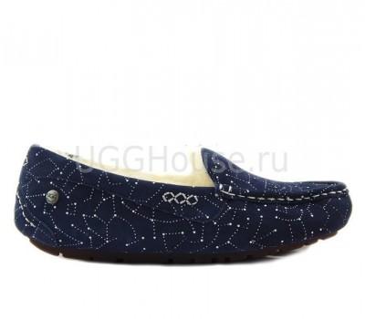 UGG Ansley Constellation Navy Синие мокасины угги Созвездие