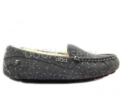 UGG Ansley Constellation Grey Серые мокасины угги Созвездие