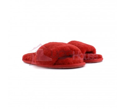 UGG Slipper Red Красные открытые тапочки угг
