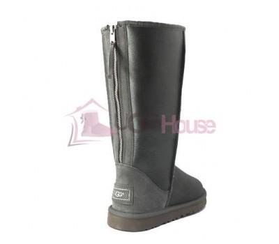 UGG Zip Tall Grey Угги с молнией сзади высокие серые