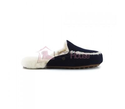 Меховые домашние тапочки Lane Slip On Loafer - Navy