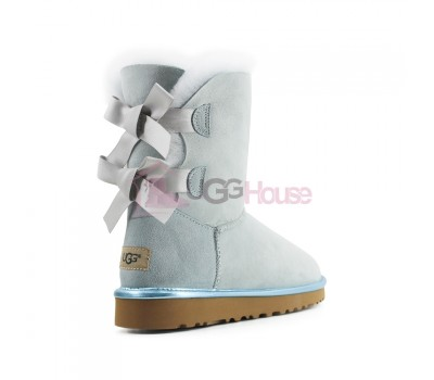UGG Bailey Bow II Metallic Sky Blue