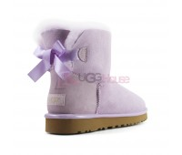 UGG Bailey Bow Mini II Metallic Lavender Fog