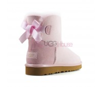 UGG Bailey Bow Mini II Metallic Seashell Pink