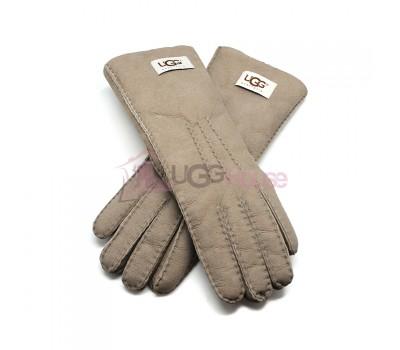 Женские удлиненные перчатки UGG Light Grey - 1029