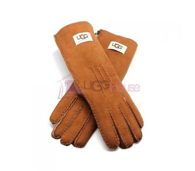 Женские удлиненные перчатки UGG Chestnut