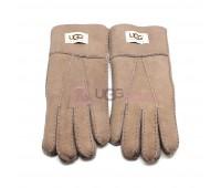 Мужские меховые перчатки Suede Dark Sand - 1006