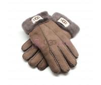 Мужские меховые перчатки Suede Capuccinno - 1010