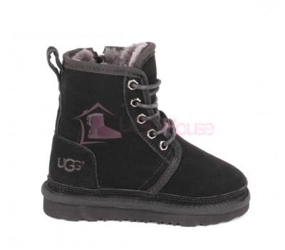 Ботинки Детские UGG Harkley Харкли Непромокаемые - Черные