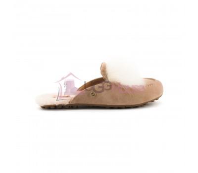 Меховые домашние тапочки Lane Slip On Loafer - Apricot
