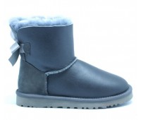 UGG Bailey Bow Mini Metallic Grey