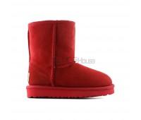 UGG Kids Red II Детские красные непромокаемые угги