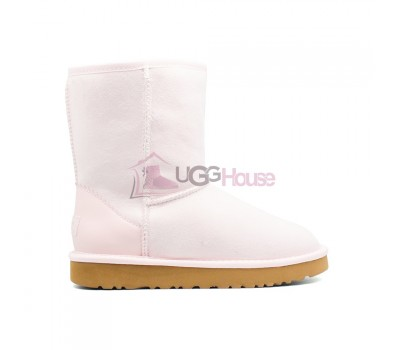 Угги Короткие UGG Metallic II - Seashell Pink