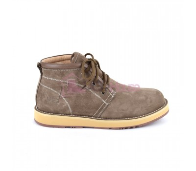 UGG Mens Iowa Chocolate Мужские ботинки угги на шнурках коричневые