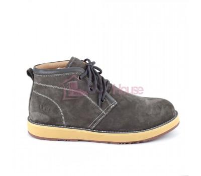 UGG Mens Iowa Grey Мужские ботинки угги на шнурках серые