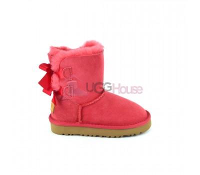 Угги Детские UGG Bailey Bow Red - Красные с ленточками