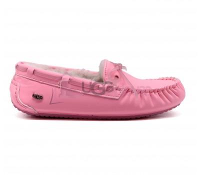 UGG Dakota Night Glow Pink Женские кожаные мокасины с мехом